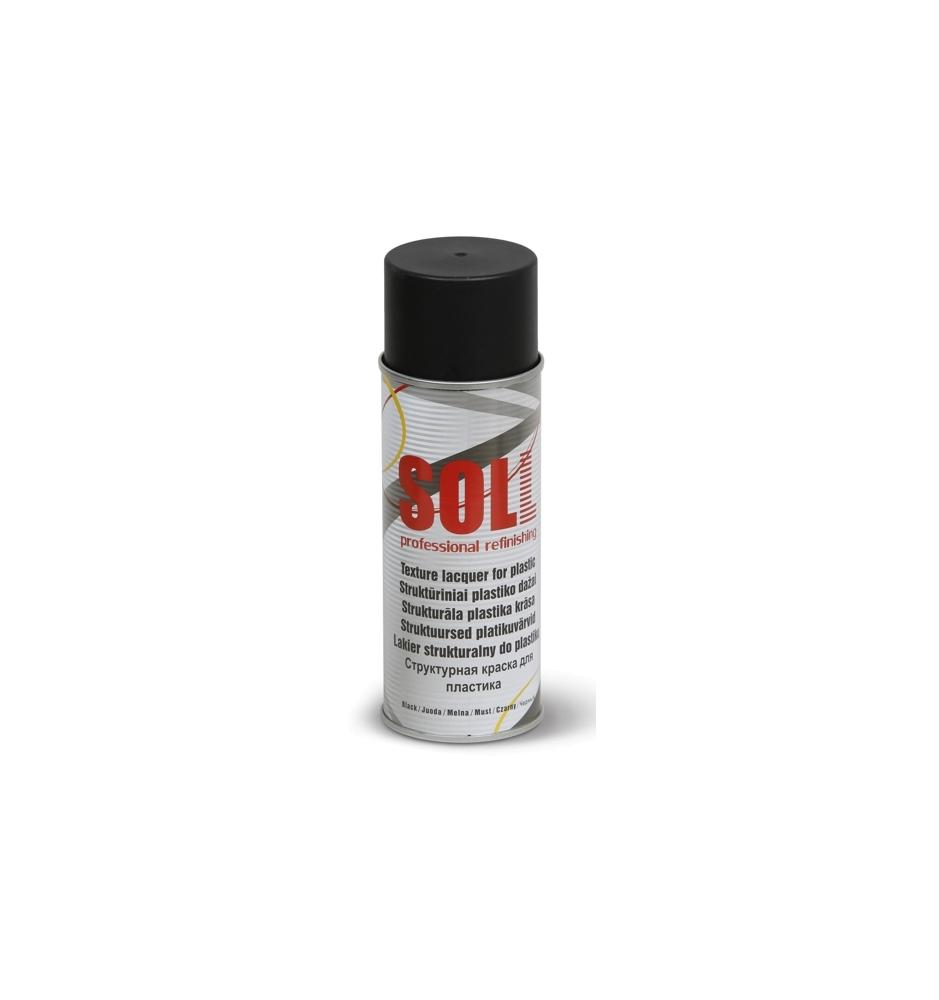 Štruktúrový sprej na plasty Čierny SOLL