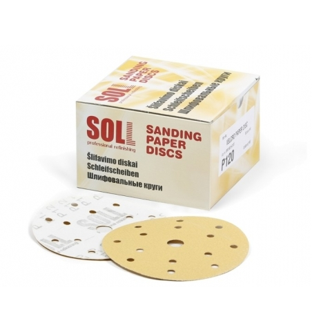 Brúsny papier 150mm na suchý zips/100ks